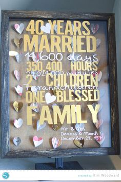 Silhouette America - Google+                                                                                                                                                                                 More 40th Wedding Anniversary Party Ideas, Mom Dad Anniversary, 40th Anniversary Gifts, Anniversary Ideas, Diamond Anniversary, Silhouette America, Silhouette Blog, Silhouette Cameo, Cumpleaños Diy