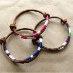 Leather Bracelet DIY for leather cord: http://www.ecrafty.com/c-65-necklaces-cords-chains.aspx  ✿⊱╮Teresa Restegui http://www.pinterest.com/teretegui/✿⊱╮