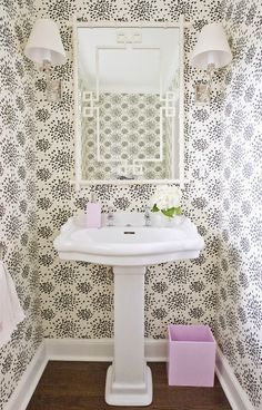 Image result for pretty powder rooms