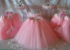 Princess Party Favor Ideas. Best Selling Wrapped Tutu and Tiara Favors now 40% off. #princesspartyfavors #tutus http://www.myprincesspartytogo.com/PoshPartyBoutique.html