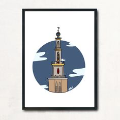 Exclusive Amsterdam Art Prints Westerkerk available in different sizes & with or without a frame Amsterdam Art, City Art, Studio, Porsche Logo, Art Prints, Frame, Art Impressions, Picture Frame, Studios
