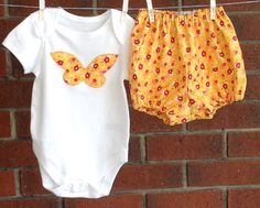BABY GIRL CLOTHES, size 9-12 months, butterfly outfit baby, decorated bodysuit and diaper cover, clothes for baby girls by TwoBlackRabbits on Etsy https://www.etsy.com/listing/228124261/baby-girl-clothes-size-9-12-months