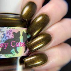 Golden Nails, Sassy, Nail Polish, Scream, February, Handmade, Long Nails, Gold Nails, Hand Made