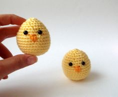 Crocheted Baby Chicks for Easter - Two for $18.00 by sabahnur on Etsy