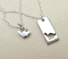 Tiny Dinosaur Mother Daughter Necklace Set – Emily Jane Designs