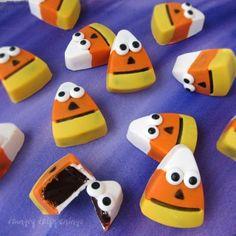 Halloween Treats - Chocolate Candy Corn Truffles Recipe on Yummly. @yummly #recipe