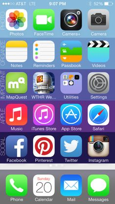 This is Aweosme! Organize your Iphone in 5 minutes! #iphone #organization