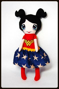 Hey, I found this really awesome Etsy listing at https://www.etsy.com/listing/200763260/wonder-woman-plush-doll