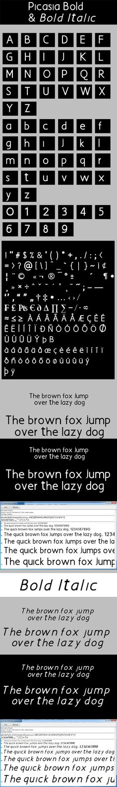 Picasia Bold & Picasia Bold Italic Fonts