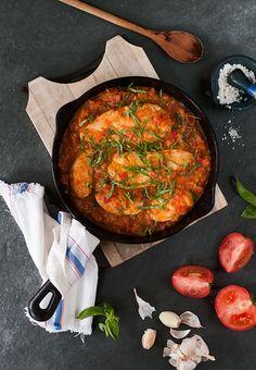 Pollo con tomate y albahaca. Fácil y bajo en calorías. | Espacio Culinario | Bloglovin'