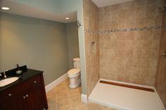 basement redo   completed bathroom in basement remodel completed basement remodel