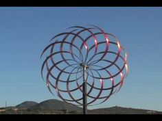 """Mark White Kinetic Sculpture available at www.markwhitefineart.com.  """"Ripples 12"""" Orange Fusion 30"""" Diameter- YouTube"""
