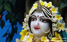 To view Radha Close Up Wallpaper of ISKCON Chowpatty in difference sizes visit - http://harekrishnawallpapers.com/srimati-radharani-close-up-wallpaper-016/