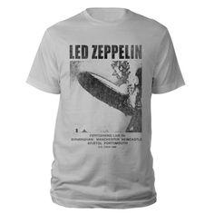 Check out Led Zeppelin UK Tour 1969 LZ I Silver Grey T-Shirt on @Merchbar.