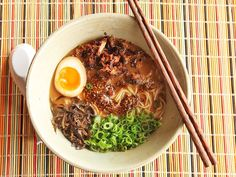Homemade Miso Ramen with Crispy Pork, Black Garlic Chili Oil, Ajitsuke Tamago, Woodear Mushrooms, and Scallions « ThatsWhyImFat