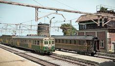 TrainScape: Diorama basado en Vadollano. 56 Model Train Layouts, Model Trains, World, Scale, Miniature, Models, Trains, Toy Trains, Parking Lot