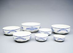 ARABIA, v. 7 veljestä, pienimmässä reunavika, h cm. Tableware, Dinnerware, Tablewares, Dishes, Place Settings