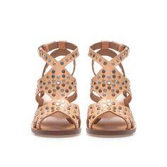 STUDDED STRAPPY SANDAL - Shoes - Woman - ZARA United Kingdom