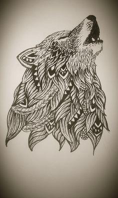 Zentangle wolf  https://www.facebook.com/mardepedres/