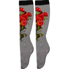 Dolce & Gabbana Embroidered tulle socks ($242) ❤ liked on Polyvore featuring intimates, hosiery, socks, dolce & gabbana, accessories, black, dolce&gabbana, black socks, black hosiery and embroidered socks