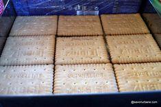 Prăjitură fără coacere cu mere, biscuiți și budincă de vanilie | Savori Urbane I Foods, Carne, Bakery, Recipies, Deserts, Bread, Sweets, Recipes, Brot