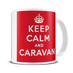 MG003 Magoo Keep Calm and Caravan Novelty Mug – gift for caravan lovers