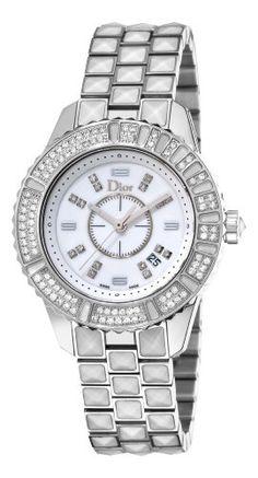 Christian Dior Women's CD113118M001 Christal White Diamond and Sapphire Watch