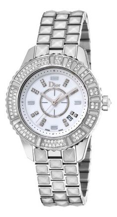 Christian Dior Women`s CD113118M001 Christal White Diamond and Sapphire Watch (bestseller)