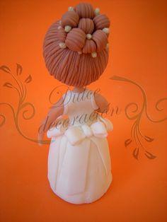 nena primera comunion by Dulce decoración (modelado - tartas decoradas), via Flickr