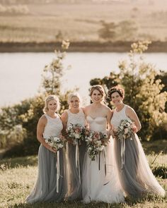 Grey Tulle Skirt, Cream Lace Top, Bridesmaid Dresses, Wedding Dresses, Lace Tops, Classic Looks, Real Weddings, Skirts, How To Wear