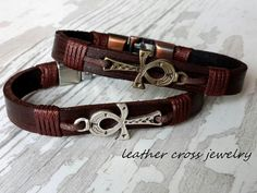 Hey, I found this really awesome Etsy listing at https://www.etsy.com/listing/476383606/ankh-bracelet-woman-cross-leather