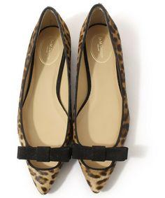 【ブランド古着】レオパード柄フラットパンプス(パンプス)|J&M Davidson(ジェイアンドエムデヴィッドソン)のファッション通販 - ZOZOUSED