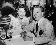 Actress Ava Gardner (1922-1990), with actor Mickey Rooney (b. 1920), date unknown.
