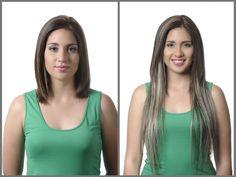 Extensiones de cabello 100% natural con clip, importadas de España.