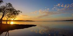 Sunrise at Bolton Point Lake Macquarie NSW Australia * Coastal Wall Art, Beach Wall Art, Sunrise Photography, Nature Photography, Australia Landscape, Water Printing, Lake Water, Landscape Prints, Ways Of Seeing