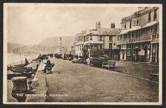 SIDMOUTH. The Promenade. 1924. - Click Image to Close