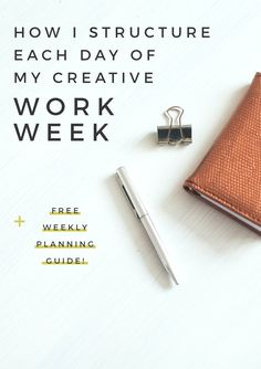 Today I'm sharing *exactly* how I structure my creative work weeks so that I'm focusing in on important tasks each day of the week. Plus, a free printable planning guide for you! Business Advice, Business Planning, Online Business, Fashion Business, Business Management, Time Management, Productivity Apps, Work From Home Tips, Each Day