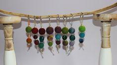 Schlüsselanhänger - Schlüsselanhäger aus Filzkugeln und Perlen - ein Designerstück von ansche75 bei DaWanda