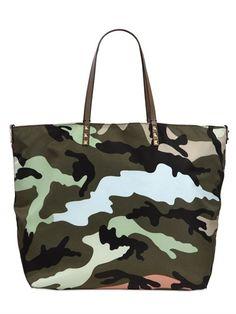 Valentino Reversible Camouflage Printed Tote at Luisaviaroma