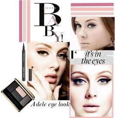 """""""Adele Eye Look Makeup Trend"""" by southerncharmgurls8783 on Polyvore"""