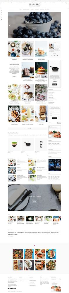 Elara - A Beautiful Food Blog Theme by lyrathemes on @creativemarket