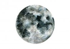 full moon temporary tattoo, created from a mixed media painting done by Joelle Poulos