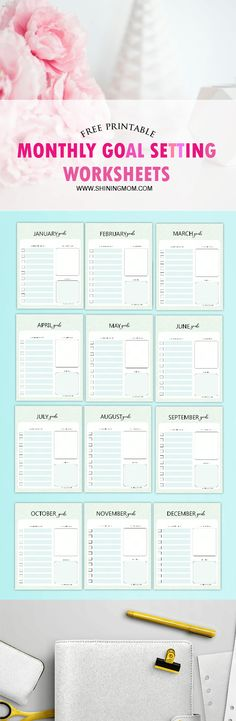 Free Printable Monthly Goal Sheets