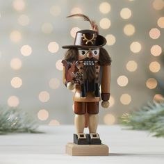 Forester Nutcracker handcrafted by artisans in the mountainous Erzgebirge region of Germany where the traditional art of wooden toy making has been a family industry since 1700.