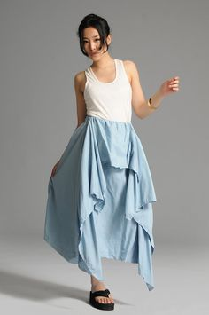 Sky blue cute anomalous skirtmore colour and size by thesimpson, $58.00