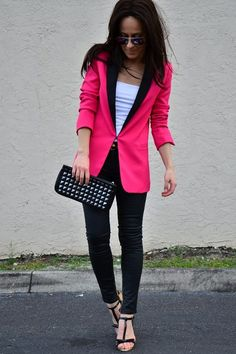 so i love blazers; though i prob would have played this look up a bit bigger with a  different heel big earrings and a gaudy and unnecessary amount of necklaces.
