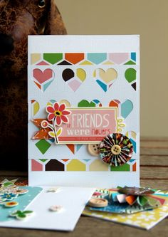 If Friends Were Flowers card - by Piradee Talvanna using Gardenia by American Crafts.