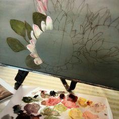 Flowers Simple Acrylic Paintings, Easy Paintings, Acrylic Art, Protea Art, Protea Flower, Art Flowers, Flower Art, Pop Art Drawing, Cottage Art