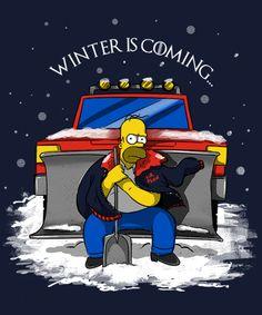 Mr. Plow--Winter is coming.