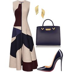 A fashion look from June 2016 featuring Roksanda coats, Christian Louboutin pumps and ZAC Zac Posen tote bags. Browse and shop related looks.